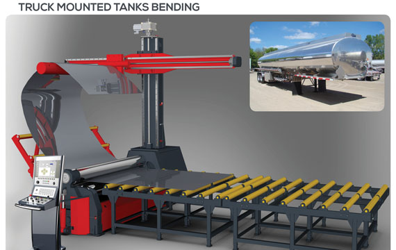 Truck Mounted Tanks Roll Bending Machine